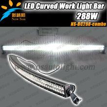 "C REE 288W 50"" curved offroad led light bar, high power auto led light for Jeeps, ATV, UTV, SUV, Off road, Trucks, Automobiles"
