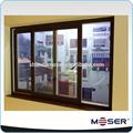 perfil de aluminio con doble ventanas correderas