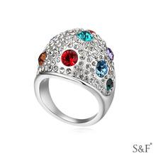 fashion shamballa ring 14666 Valentine colorful rubber o rings