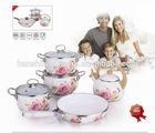 8pcs new color enamel cookware,enamel casserole