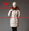 el último 2014 real de piel de alta calidad brillante de invierno de la moda de alta capa de la mujer