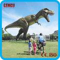 Al aire libre del parque temático artificial animatronic vivo- dinosaurio t-rex
