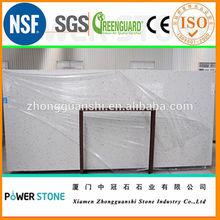 Best price of sparkle white artificial quartz stone