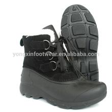 Warm fur trim durable polar snow women boots 6525