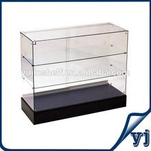 Frameless glass display cabinet showcase with slide door