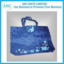 logo printed foldable polyester shopping bag