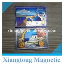 Novelty Personalized Tourist Souvenir Silver Foil Paper Fridge Magnet