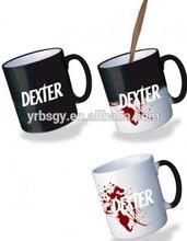 AB grade 11oz ceramic coffee latte mug ,sublimation color changing thermal mug with custom logo printing