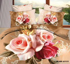 Free Shipping 3D flower printed 100% cotton bedding 3d luxury Duvet cover set