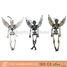 Halloween decoration plastic hanging skeleton angel