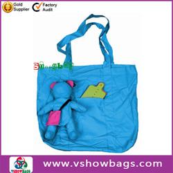 Water proof rose nylon foldable shopping bag nonwoven bag