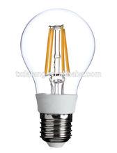 vintage bulb e27 6W A60 e27 led filament Edison bulb/360 degree