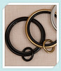 50mm Black Gold Silver Metal Curtain Ring,Curtain Ring Hook Clips,Metal Rings For Curtains