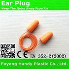 PU foam earplugs with cord