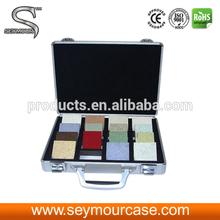 Quartz Sample Case Floor Tile Aluminum and Thick Handles Display Suitcase Quartz Display Case