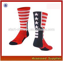 USA Flag Baseline Crew lacrosse Socks Olympics World Cup elite basketball Socks/ USA FLAG Basketball Socks