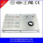 Security 16 flat keys metal keypad