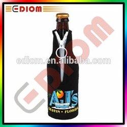 Promotional 330ml 12oz 750ml Cheap Wholesale Custom Printing Neoprene Beer Bottle Cover With Zipper