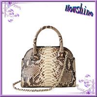 2015 china manufacturer designer snake skin genuine leather bag