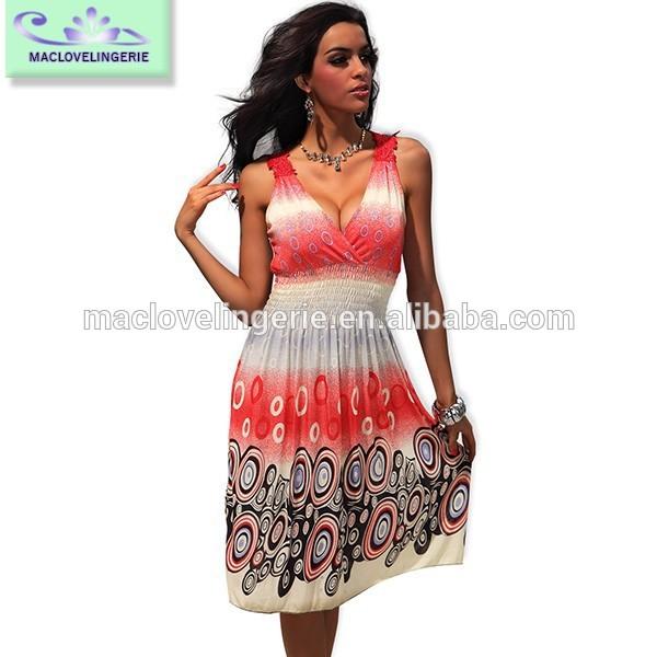 ml18005 2014 اللون الوردي موضة صيف مثير ماكسي فستان مع مرونة الخصر