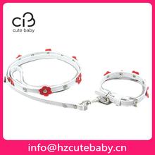 flower design pet collar and leash