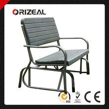 Orizeal Black Leisure Public Garden Bench OZ-C2017