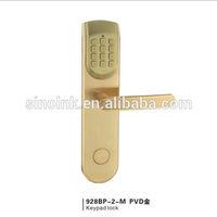 Intelligent Lock/ Password/ RF Card/ Mechanical key/ Zinc Alloy/ 5# ANSI mortise/ 928BP-2-M