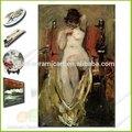azulejo de cerámica de la reproducción caliente sexo desnuda mujer pintura al óleo