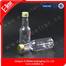 50ml transparent pet plastic juice bottle with fancy shape