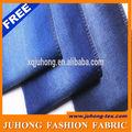 8.9oz azul oscuro de sarga de algodón de mezclilla tela proveedor