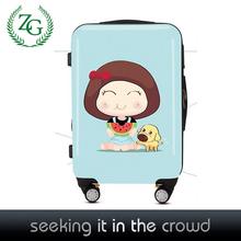 2014 new design cute girls luggage sets /beautiful luggage sets / bright surface luggage set