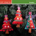 6 polegadas feltro artesanal decoração de natal árvore ornamento de suspensão 2014