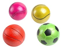 2014 Shine gold sport basketball for kids,lacquer rubber ball bounce highly,rubber ball toys