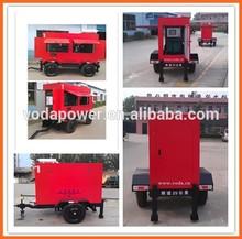 trailer/silent diesel generator set, mobile diesel generator, sound proof generator