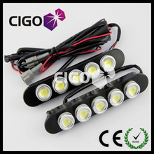 COB High power 12v 1w A6-9 auto 3w led eagle eye