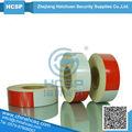 blanco y rojo retro reflectantes de advertencia de peligro cinta de película