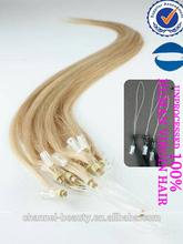 2014 china whole sale beautiful unprocessde human brazilian micro-ring hair extension