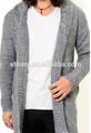 2014 moda chaqueta larga chaqueta de punto para hombres