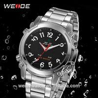 2014 WEIDE WH2302 Watches Superior Men Quartz Movement waterproof Analog Digital Date Alarm focus watches brand