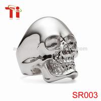 Skull silver ring,skull ring silver jewelry gothic,silver skull ring