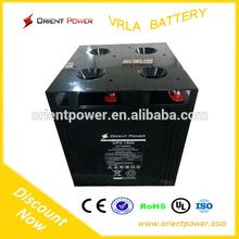 Long life solar battery cell 2V2000Ah battery solar for home/factory use