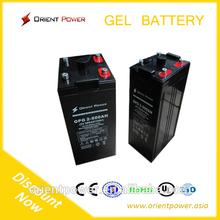 Long life solar gel battery 2V500Ah battery gel solar battery