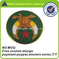 Custom Enamel Car Emblem Masonic Design