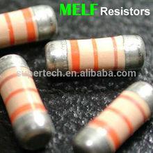 100% Taiwan Manufacturers of Carbon film precision Resistor price for Mini Melf