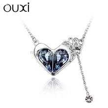 2015 OUXI handmade custom friendship necklaces made with Swarovski elements 10971