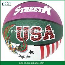 promotional cheap size 7 basketball rubber ball basket