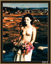 Digital women oil painting hot sex images for decor (40x50cm)