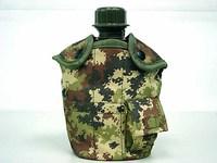 1Qt Canteen Water Bottle w/Pouch & Cup Italian Camo sports water bottle