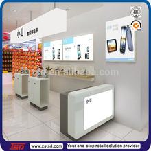 TSD-W399 Custom high quality mobile phone display shelf/mobile phone display counter/decoration cell phone store