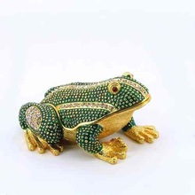 2014 New Arrival Home Decor Frog Jewelry Box/ Frog Metal Jewelry Boxes Enameled Trinket Boxes (QF3463)